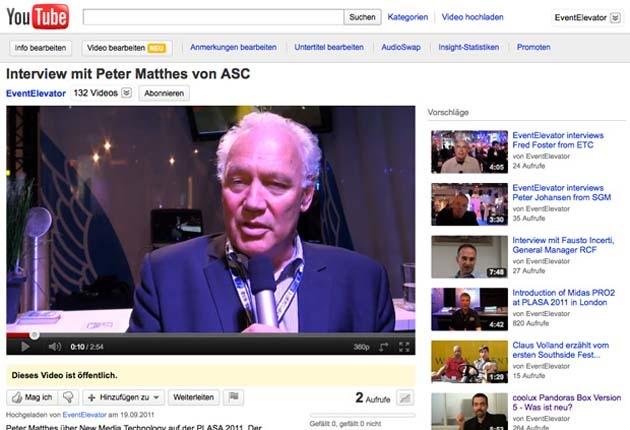 Video: Peter Matthes von ASC über New Media Technology