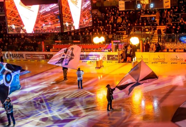 Monumentale Eishockey-Eröffnungsshows mit Mythos und dot2 core gestalten