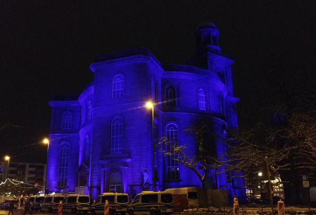 Art Evolution Service illuminiert Paulskirche