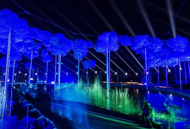 Schillernder Tiefkühl-Einsatz beim Swarovski-Lichtfestival für SGM