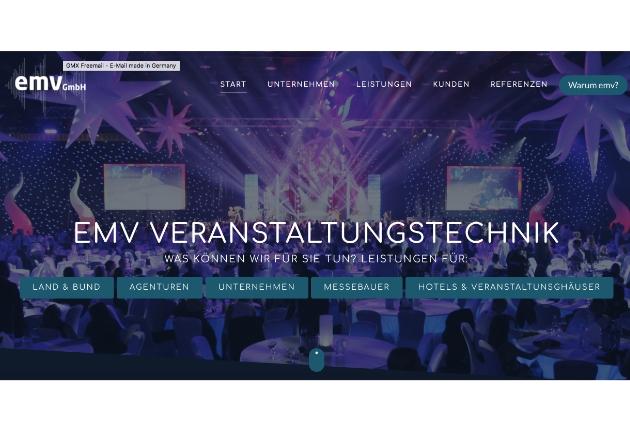 Die emv Veranstaltungstechnik GmbH relauncht Webauftritt