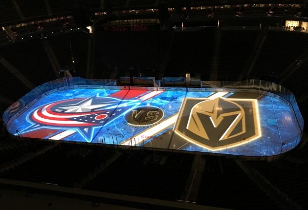 Christie setzt Projection-Mapping in der NHL bei den Golden Knights um