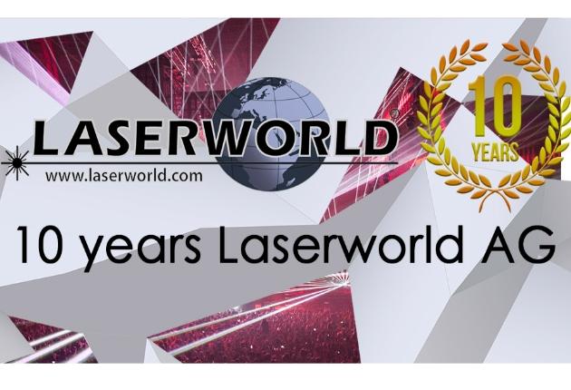 Glückwunsch! Laserworld feiert 10-jähriges Jubiläum