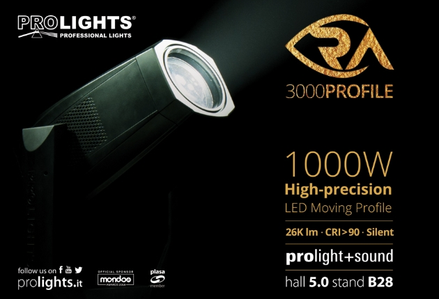Prolights präsentiert den RA3000 Profile zur Prolight + Sound