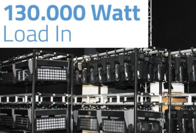SGM mit 130.000 Watt Lichtleistung auf der Prolight + Sound