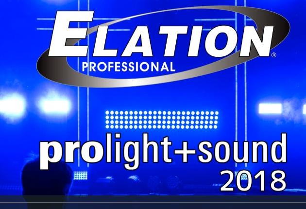 Prolight & Sound 2018: Die Lichtshow von ELATION Professional