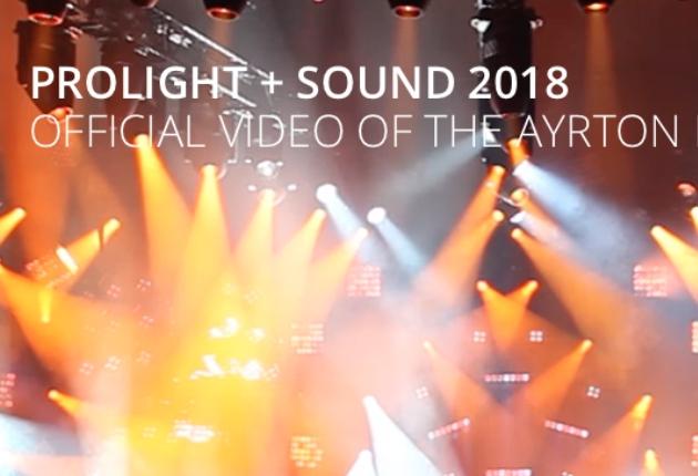 Prolight & Sound 2018: Die Lichtshow von Ayrton am Stand von Visionstage