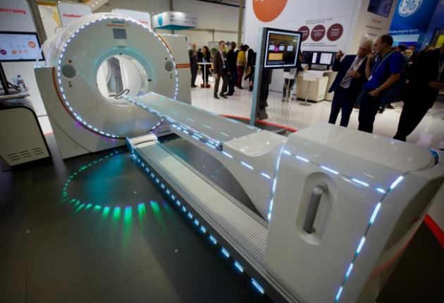 tarm Showlaser mit 360-Grad-Lasermapping auf der EANM in Wien