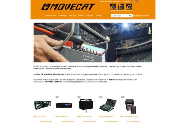 Movecat startet Online-Shop MOVEcAT eSHOP mit mehr als 2.000 Artikeln