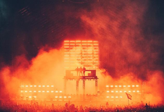 GLP und Andy Hurst bei der Reunion der Swedish House Mafia beim Ultra Festival
