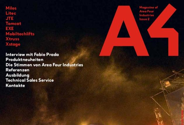 Area Four Industries mit vielen News im neue A4 Magazin