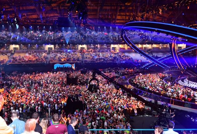 17 Robe RoboSpot Systeme beim Eurovision 2018 in Lissabon im Einsatz