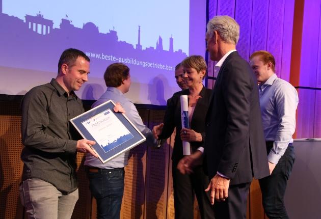 edelmat. ist Preisträger beim Wettbewerb Berlins beste Ausbildungsbetriebe 2018