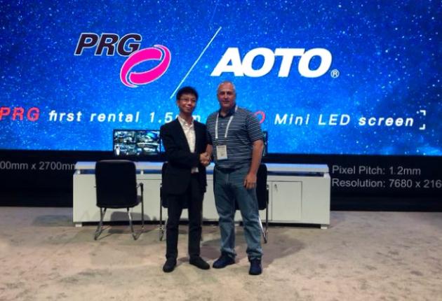 Die Production Resource Group (PRG) investiert in ultra-hochaufgelöste LED-Technologie von AOTO