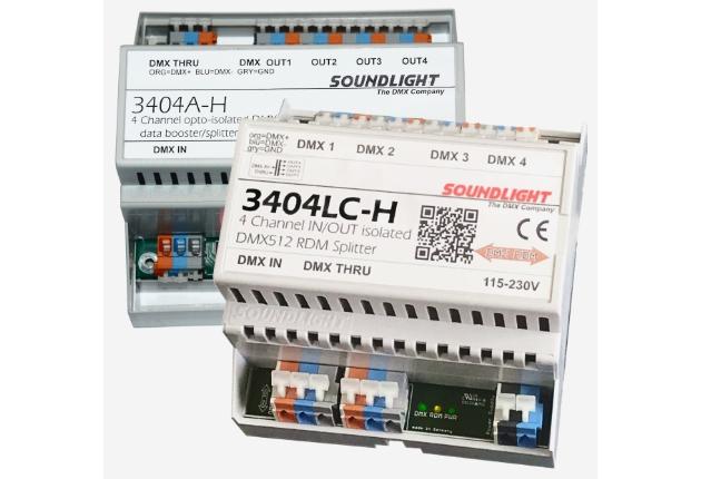 Soundlight stellt den neuen DMX RDM Splitter 3404LC-H vor