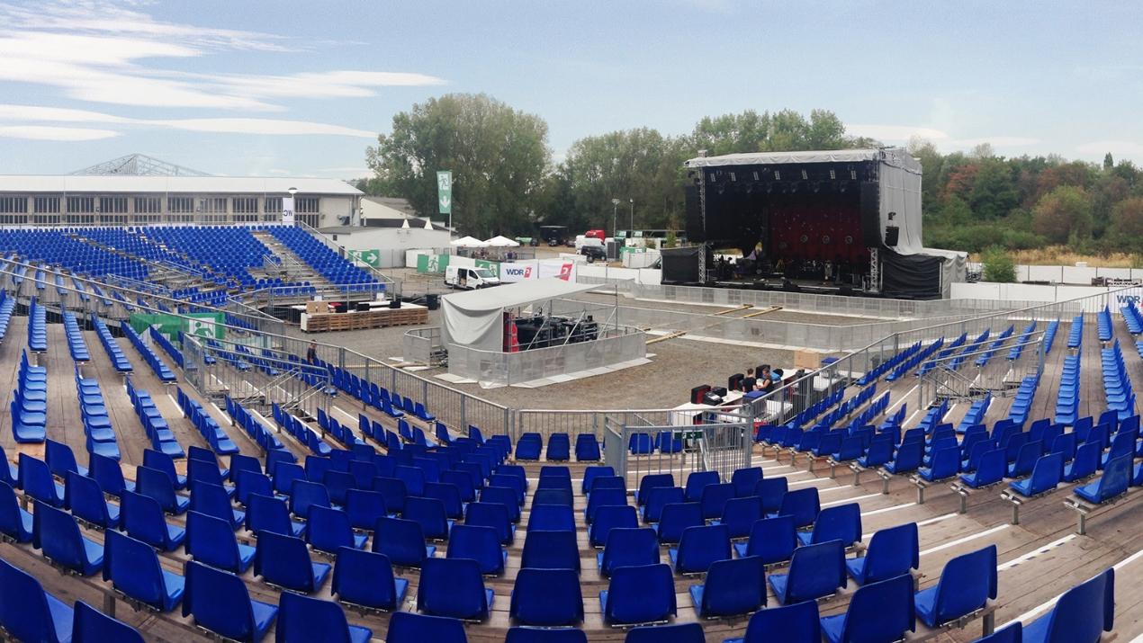 eps baut neue temporäre Open-Air-Arena an der Wassermannhalle in Köln