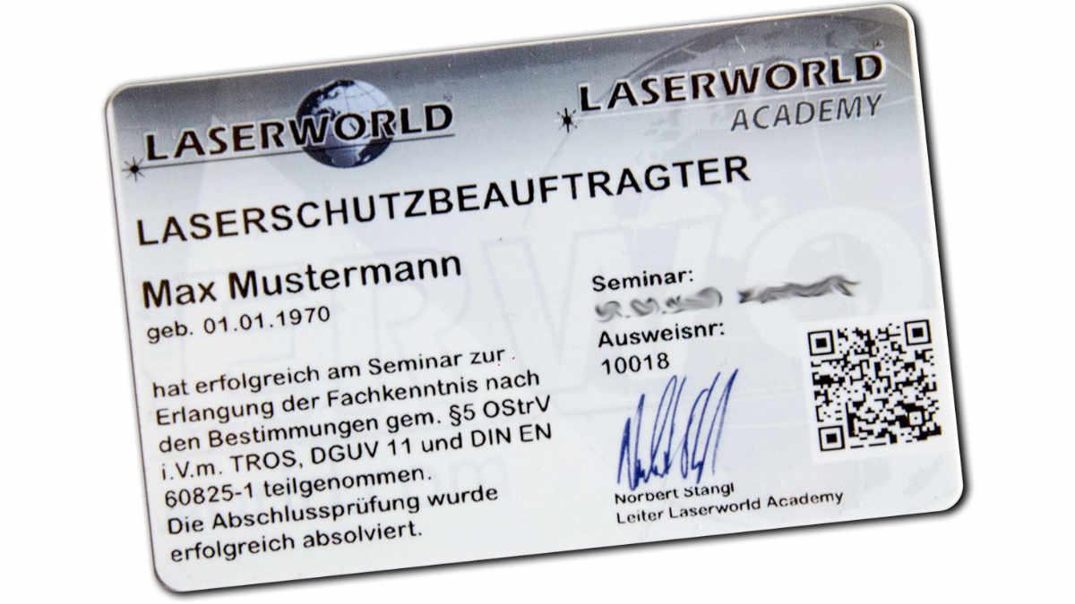 Laserschutzbeauftragter mit Laserschutzseminar.de werden