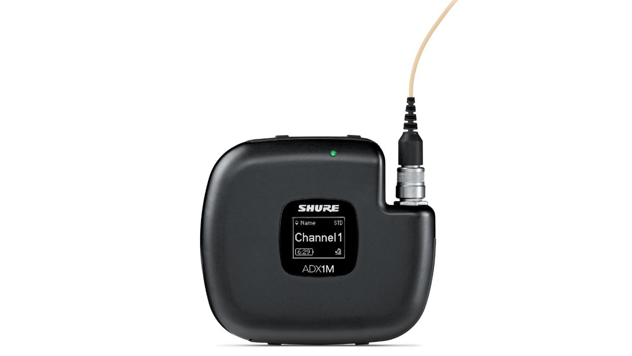 Shure präsentiert Axient Digital Micro-Taschensender ADX1M auf der IBC