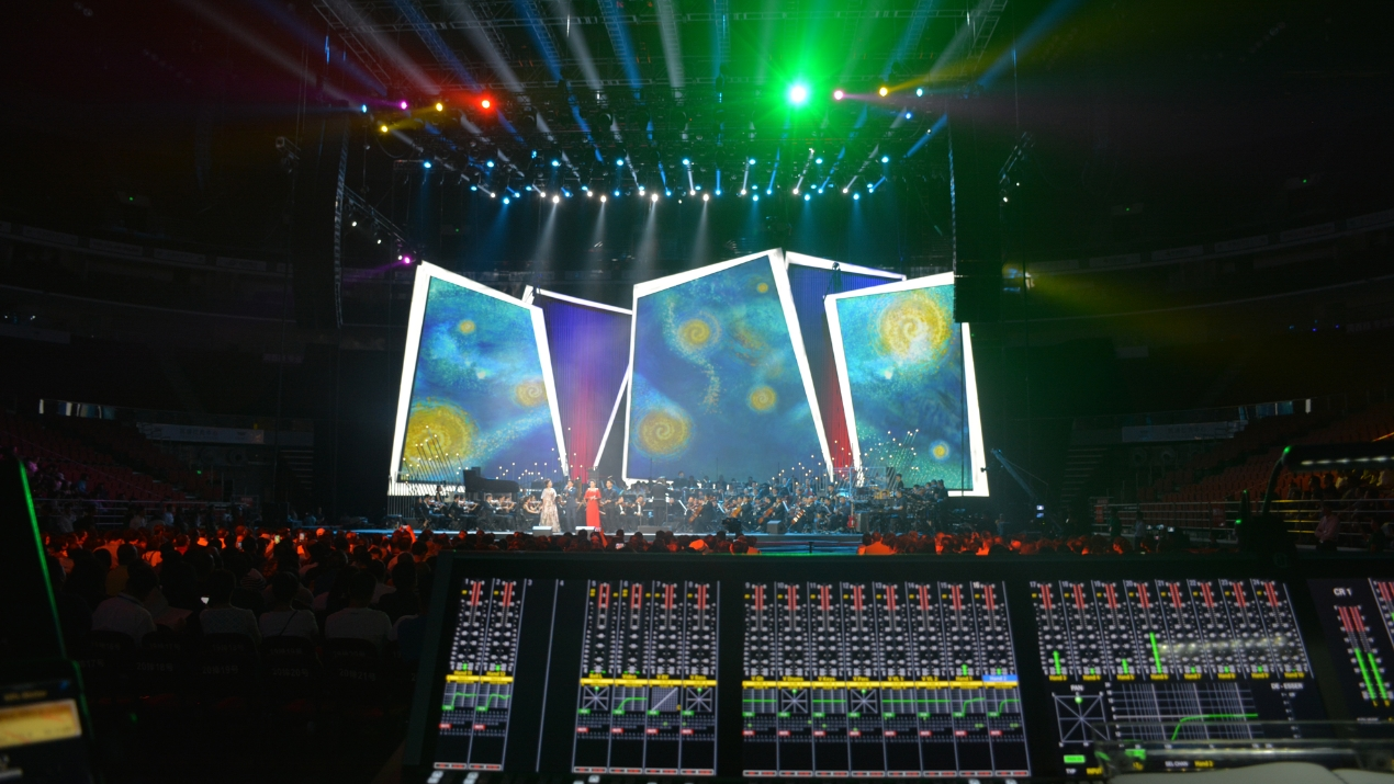 Das Stage Tec AURUS platinum als FOH beim CCTV-Event in Beijing
