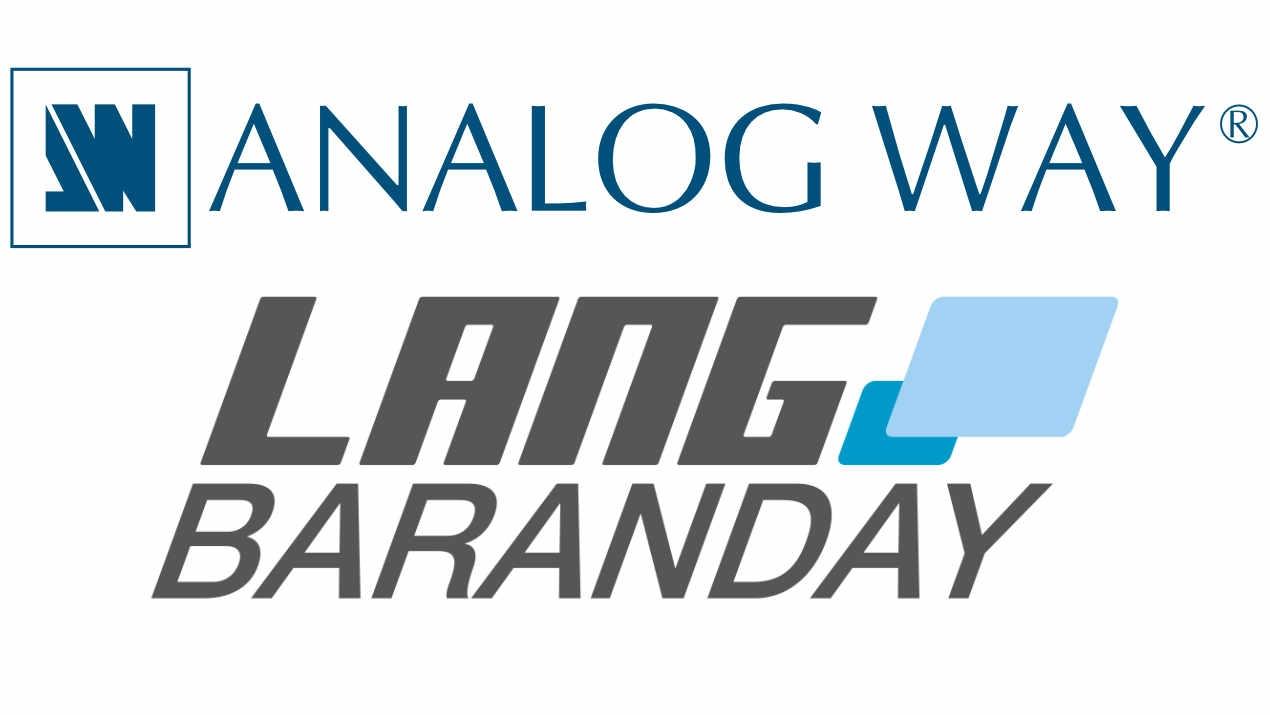 Die LANG BARANDAY AG wird Analog Way Distributor in der Schweiz