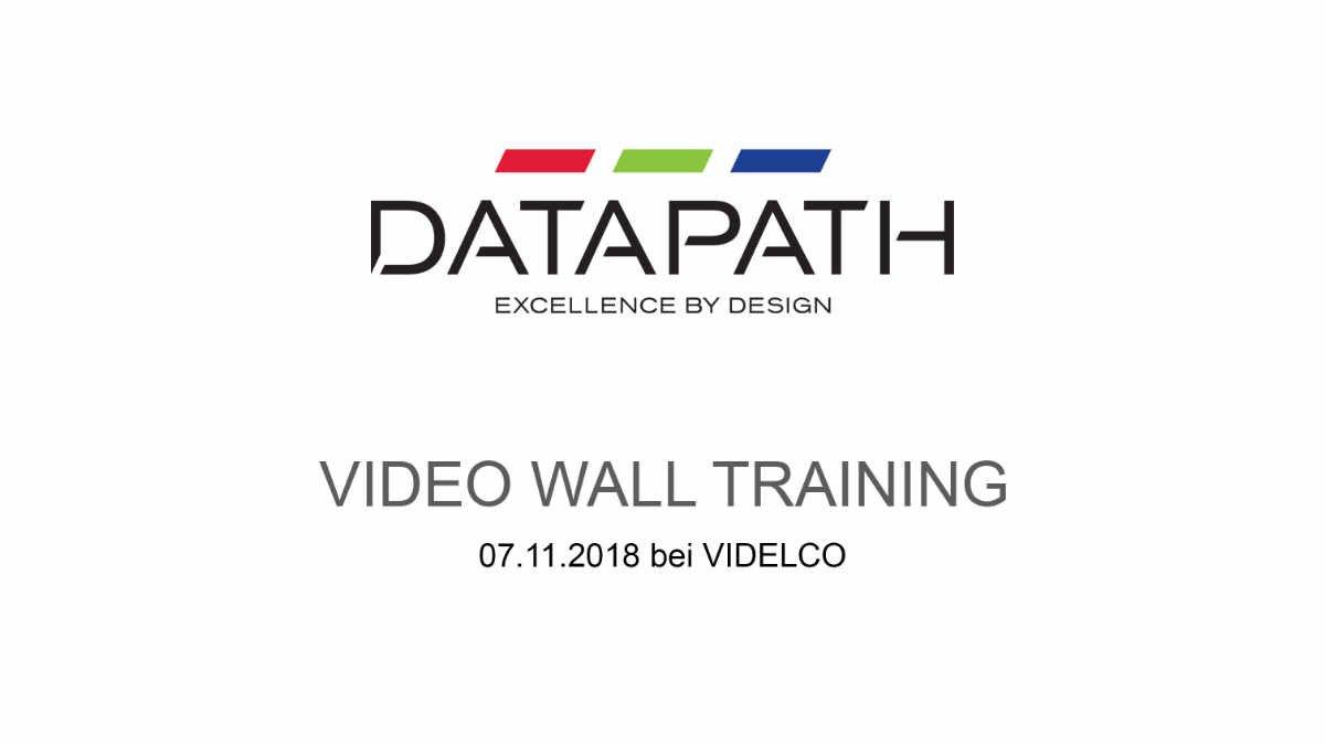 VIDELCO Europe veranstaltet ein Datapath Video Wall Training