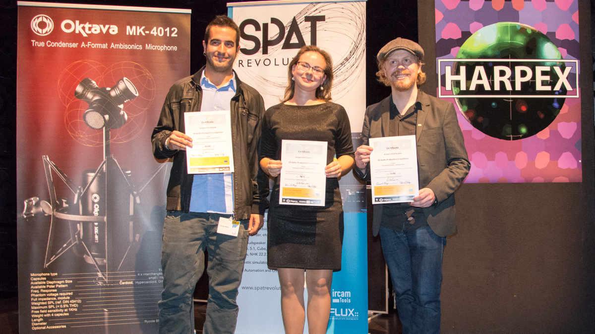Student 3D Audio Competition Preisverleihung auf der TMT 2018