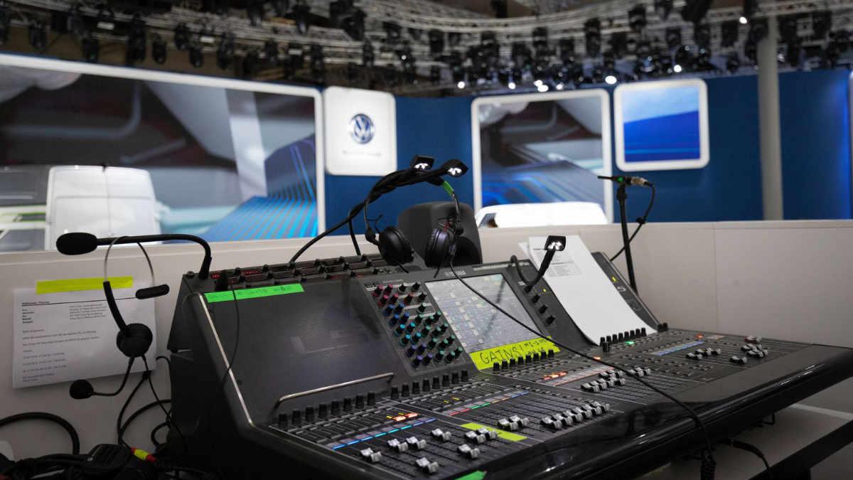 G+B Medientechnik auf dem Messestand der VW Nutzfahrzeuge