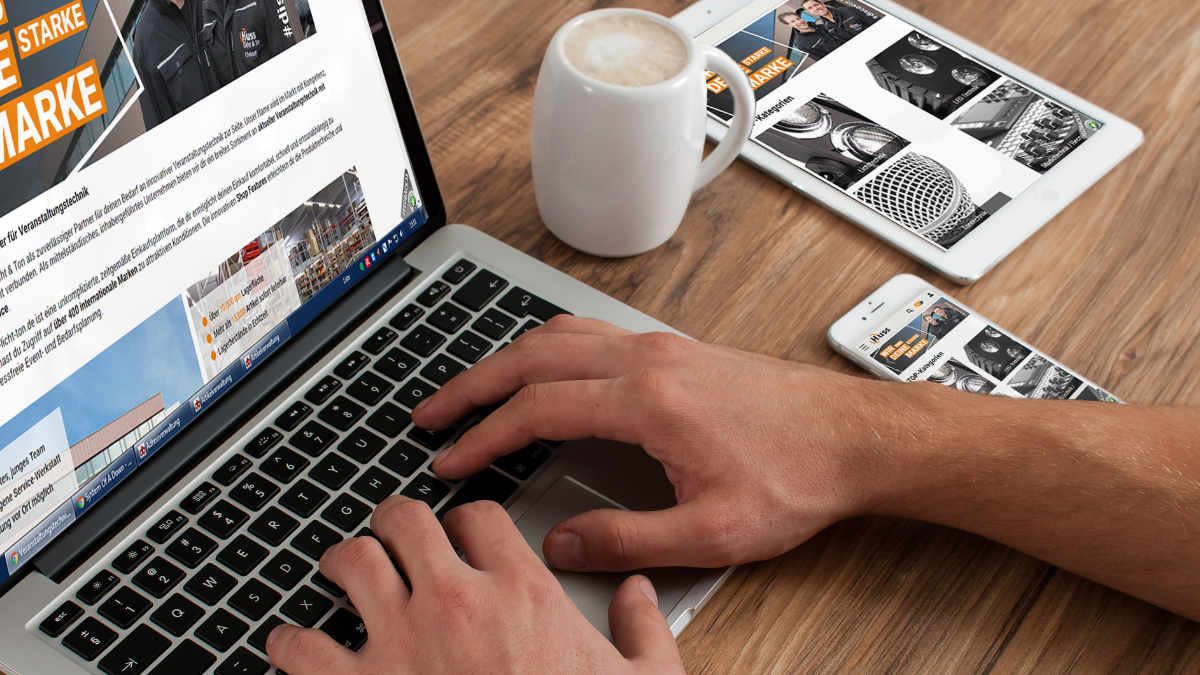 Huss Licht & Ton relauncht Webshop