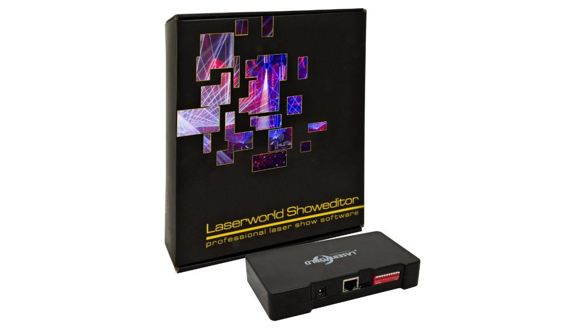 Laserworld bietet ShowNET-Netzwerk-Interface mit Showeditor im Bundle an