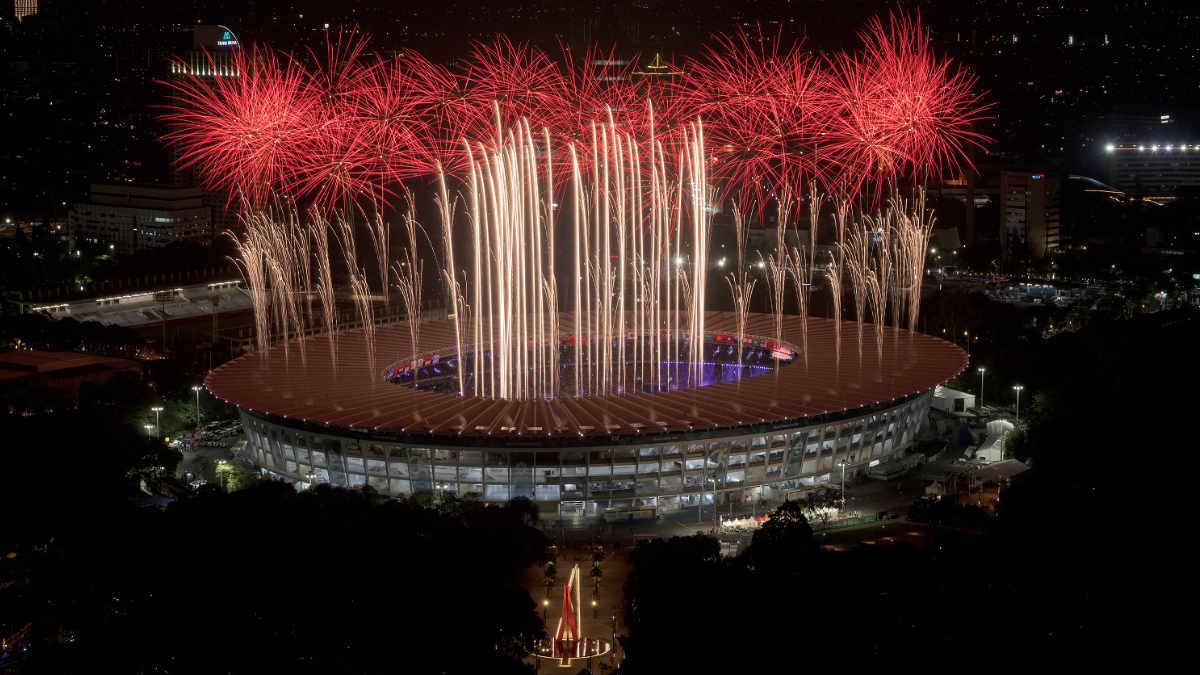 Lunatx SFX gestaltet spektakuläre Pyroshow bei den Asian Games