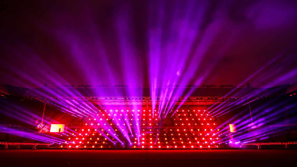 CLF Aorun Beam überzeugt bei Lichtshow GAME:ON im Philips Stadion
