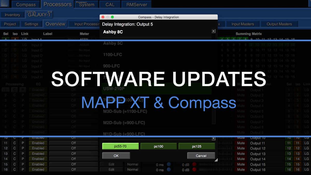 Meyer Sound MAPP XT und Compass Software erhalten ein Update