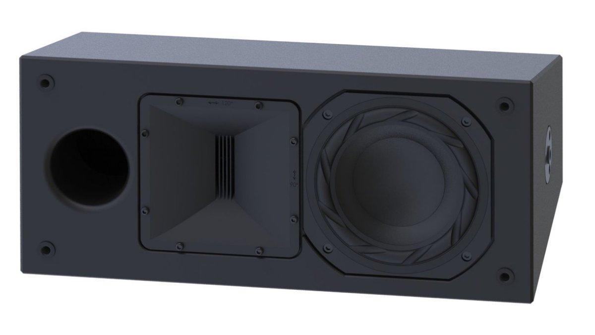 Alcons zeigt CRMSC-SRHV/120 Surround Lautsprecher auf der ISE