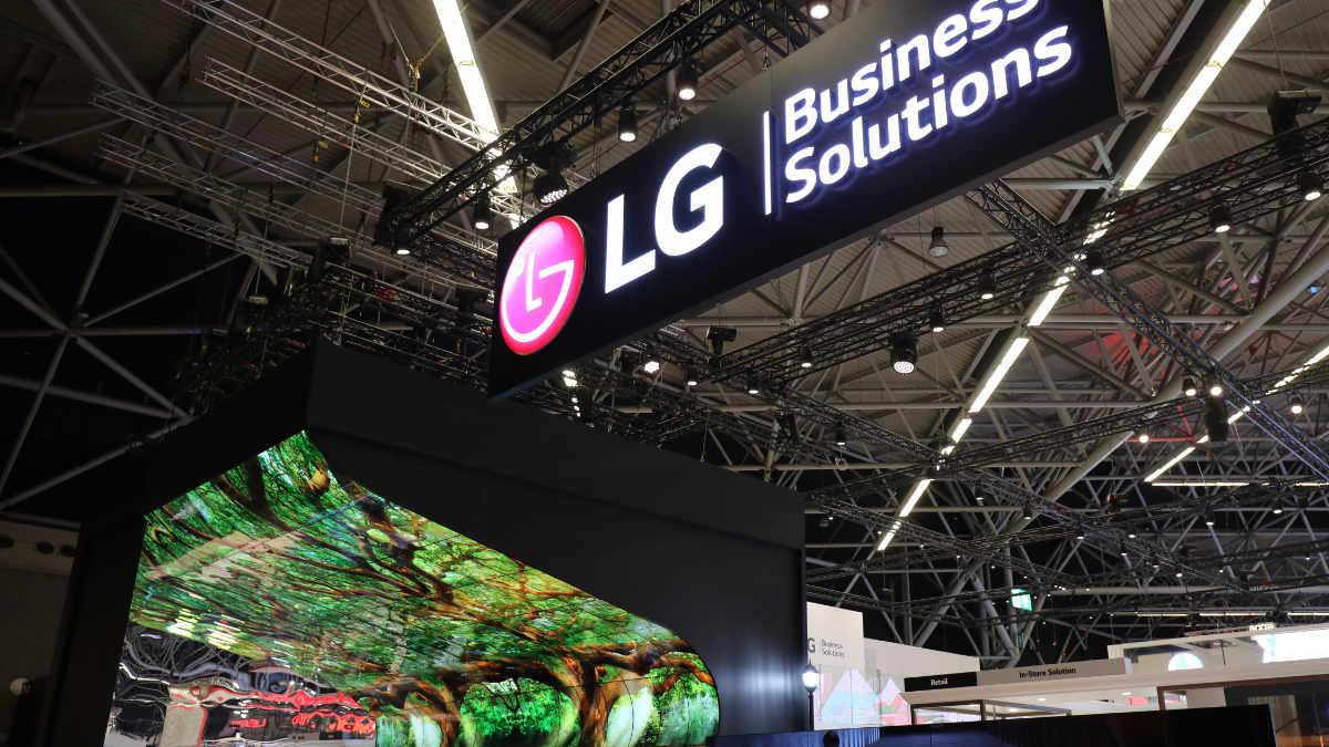 LG OLED Falls begeistern auf der ISE