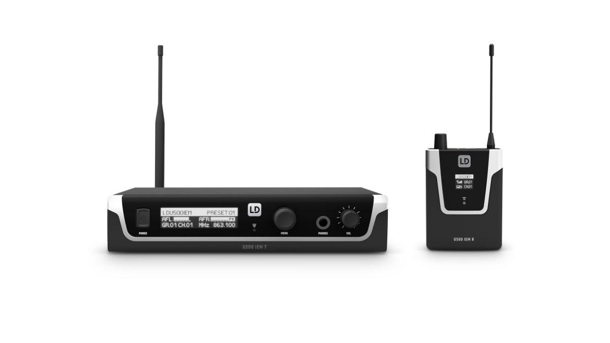 LD Systems präsentiert die In-Ear-Monitoring-Systeme der U500 IEM Series
