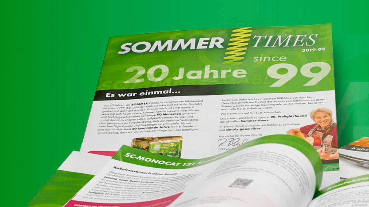 Sommer cable stellt neue Ausgabe der Sommer Times online