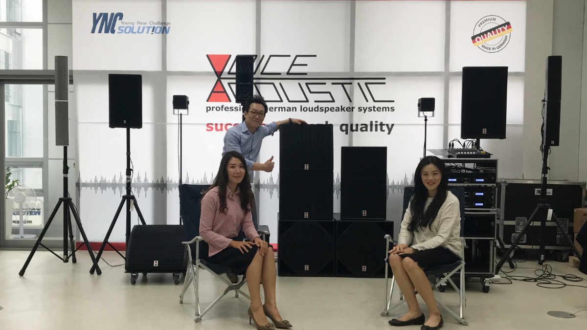 Voice-Acoustic eröffnet Demoraum in Südkorea