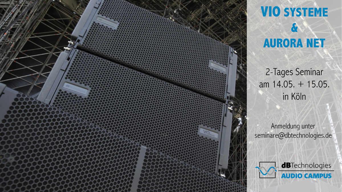 dBtechnologies bietet VIO Operator und Aurora Net Seminar an