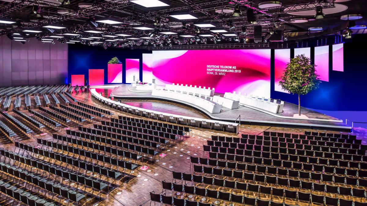 Kuchem Konferenz Technik stattet die Hauptversammlung der Deutschen Telekom aus