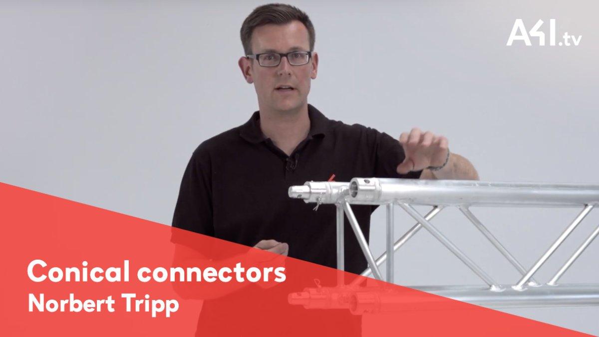 Norbert Tripp erklärt den Konusverbinder