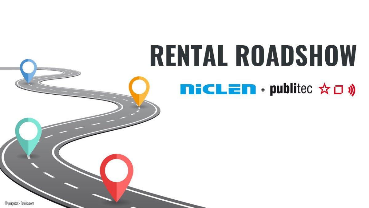 NicLen und publitec gehen auf Rental Roadshow