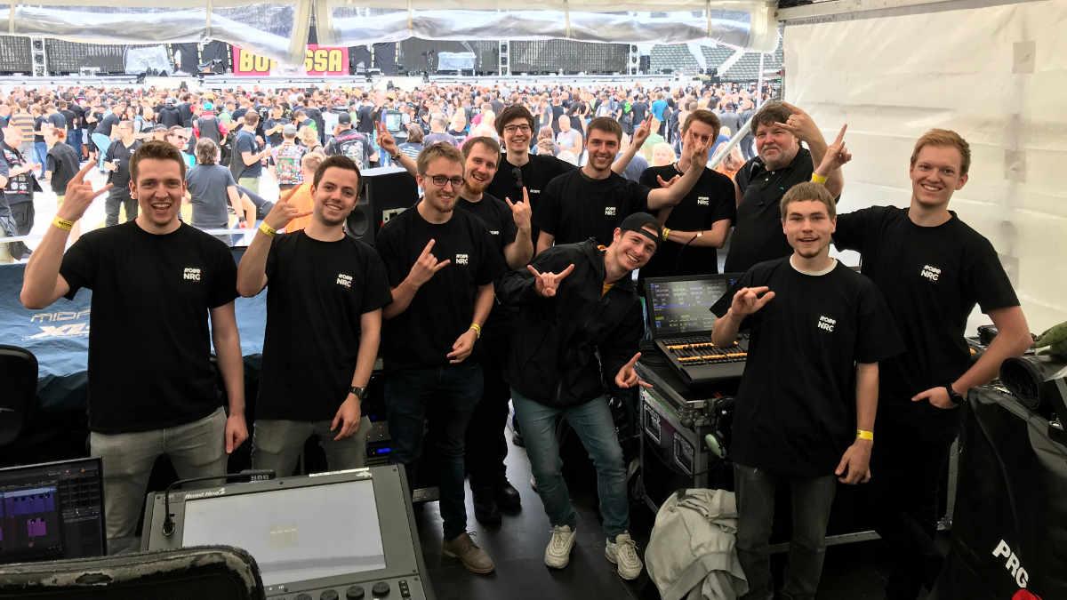 Die Beuth Hochschule besucht im Rahmen von ROBE NRG Metallica
