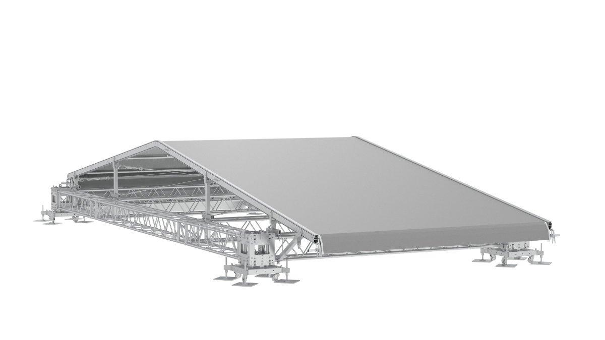 MILOS präsentiert Planenspannsystem für Bühnendächer