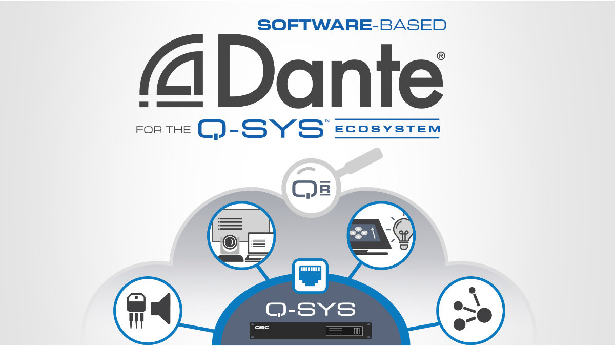 QSC präsentiert softwarebasiertes Dante für Q-SYS Ecosystem