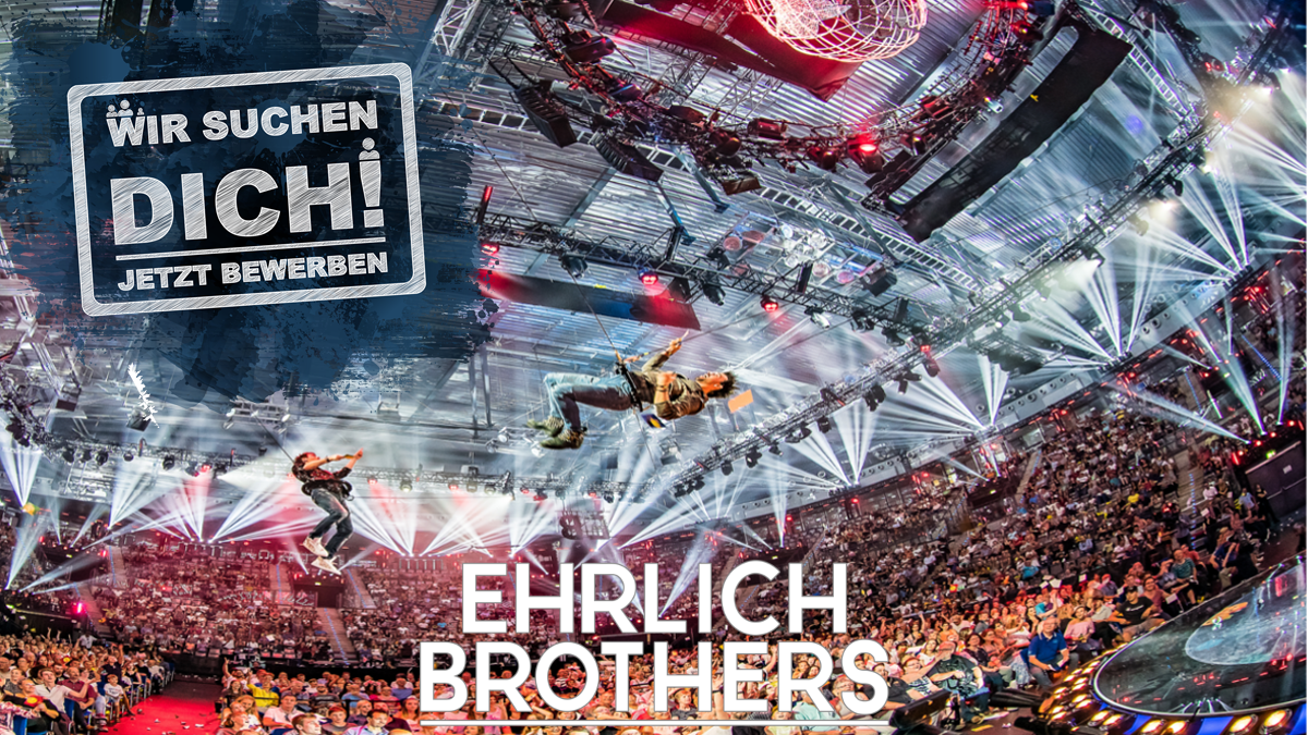 Ehrlich Entertainment sucht einen Veranstaltungstechniker mit Schwerpunkt Video- und Netzwerktechnik (m/w/d)