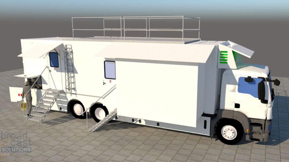 Broadcast Solutions präsentiert neuen Streamline S12T Ü-Wagen