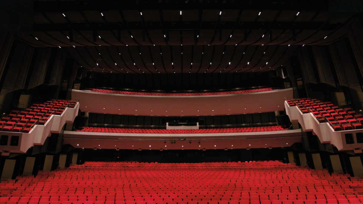 Zuschauerraumbeleuchtung mit dem ETC ArcSystem in der Centennial Concert Hall
