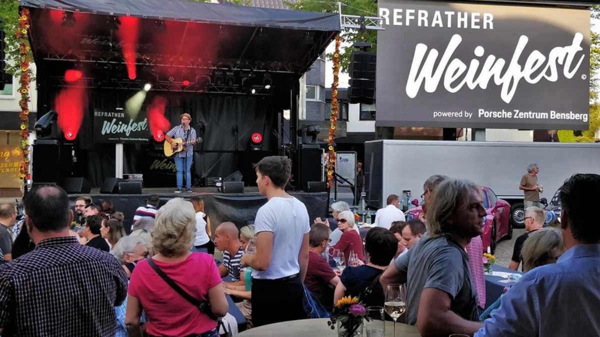 G+B Auszubildende setzen das Refrather Weinfest in Szene