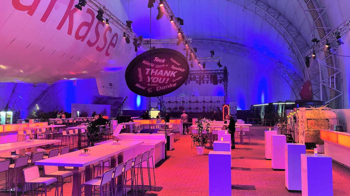 Aventem verwandelt die WDL Luftschiffhalle in eine Partylocation