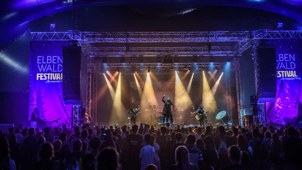 PM Blue beschallt das Elbenwald Festival mit RCF